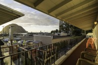 Spectacular View from most 2nd story rooms where you can sit outside your room and enjoy the sunsets.